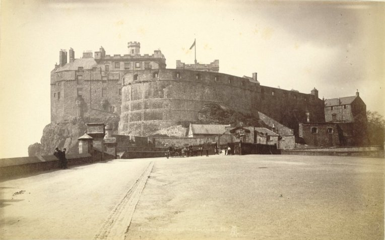 Edinburgh Castle from the Esplanade 1865 - 1895