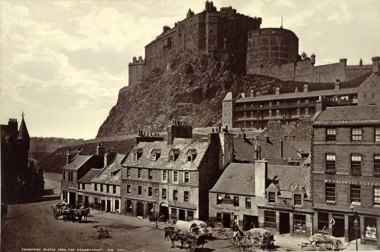 Edinburgh Castle from the Grass Market Photographer George Washington Wilson Photograph date ca. 1865-ca. 1885