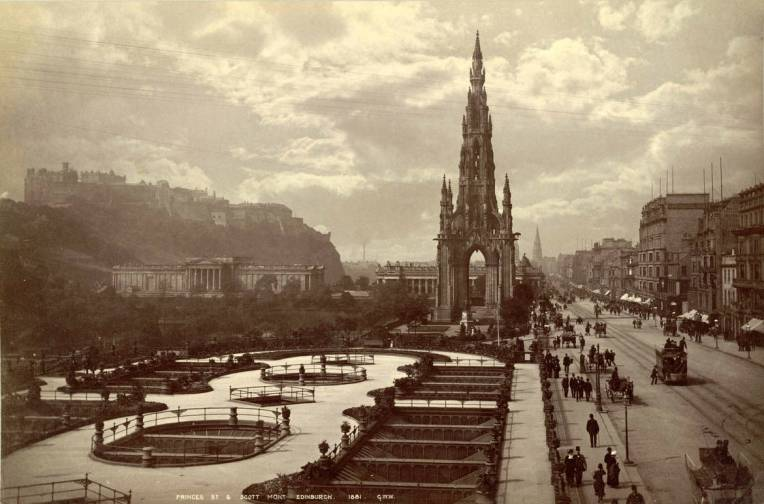 Edinburgh Sir Walter Scott Monument Photographer George Washington Wilson 1881
